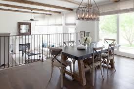 Zinc Top Dining Table With Leather X Back French Chairs