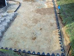 how to lay a garden patio laying a garden patio tags how to put in a patio barbed fencing