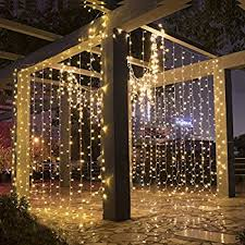 String Lights For Patio by Amazon Com Twinkle Star 300 Led Window Curtain String Light For