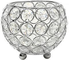 vincigant kerzenhalter schüssel kristall kerzenständer silber für wohnzimmer dekoration couchtisch dekor tabelle kernstück durchmesser 10cm