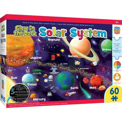 Masterpieces Educational - Solar System Glow 60pc Puzzle