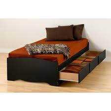 Twin Captains Bed With 6 Drawers by Prepac Sonoma Twin Xl Wood Storage Bed Bbx 4105 K The Home Depot
