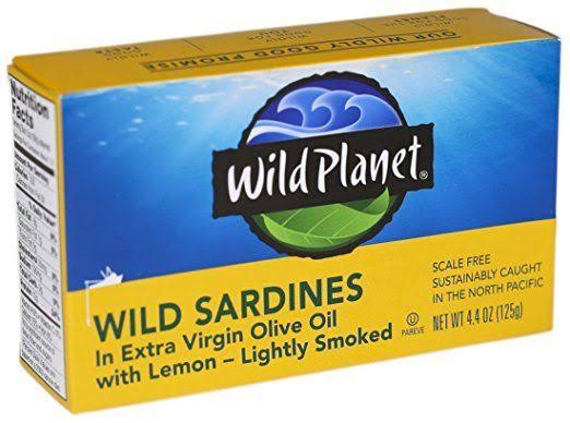 Wild Planet Wild Sardines - Extra Virgin Olive Oil with Lemon, 4.375 oz