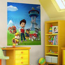 poster de chambre stickers pour enfants poster la pat patrouille paw patrol