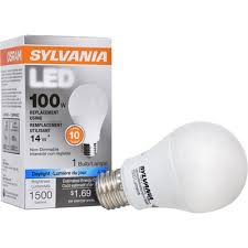 sylvania led 14 watt 5000 kelvins a19 medium base e 26 daylight