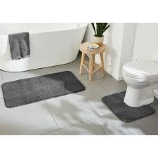 miomare badezimmergarnitur 2 teiilig unterseite anthrazit mit wc ausschnitt b ware einwandfrei
