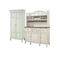 Home Square 2 Piece Dining Room Set With Tall Cabinet Buffet Bar Hutch In
