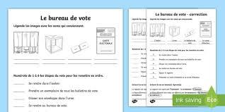 bureau de vote fiche d activités le bureau de vote bureau de vote polling