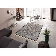 delavita teppich tiara rechteckig 10 mm höhe mit fransen wohnzimmer