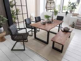 home affaire esstisch soho mit vollmassiver akazienholzplatte mit baumkante