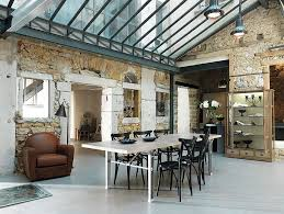 Spacious Dining Room Combines Industrial And Farmhouse Styles Elegantly Design Grange Furniture NY
