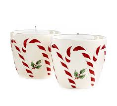 Spode Christmas Tree Peppermint Mugs Spoons by Amazon Com Spode Serveware Peppermint Embossed Candy Votives With