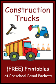 100 Construction Trucks Names FREE Theme Preschool Printables Preschool Powol Packets