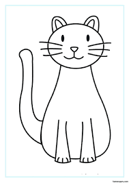 Coloring Page Cat Printable Pages For Kids In The Hat Face