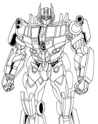 Optimus Prime Coloring Pages For Kids Enjoy Coloring Superheroes