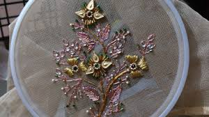 Hand Embroidery Designs Beads Work For Dresses Ghagras Sarees And Blouses