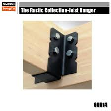 2 x 6 decorative joist hangers strong tie ou814 the rustic collection joist hangers