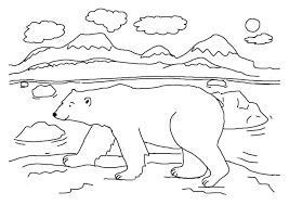Good Polar Bear Coloring Page 23 In Free Colouring Pages With