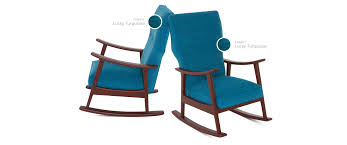 100 Rocking Chair With Pouf Keyser Joybird