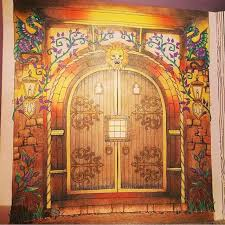 Door Enchanted Forest By Yves Dimitriva Coloring BookAdult
