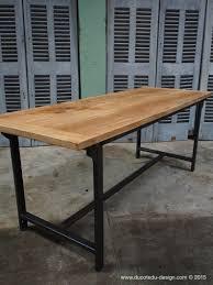 table pliante bureau bureau metal industriel gallery of bureau industriel en bois et