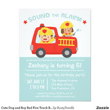 Cute Dog And Boy Red Fire Truck Birthday Party Card | Fire Trucks ... Birthday Printable Fireman Party Invitation Merriment Template Fire Truck Invitations Wording Plus New Cute Engine Gilm Press Fantastic Photo And Personalise Boys Army Birthday Invitionmiltary Party Invitation Inspirational Firefighter Hire A Fire Ny Pinterest Monster Small Friendly Invites Marvelous