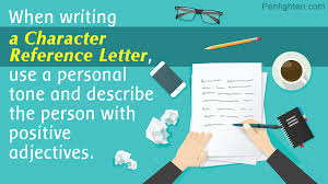 How To Write A Character Reference With Sample Job Reference