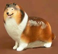 Vintage Retired English Beswick Porcelain Collie Dog