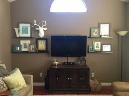 Wall Units Cool Shelves Around Tv Shelf For Under Mounted Floating