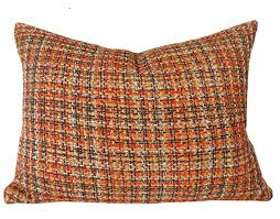 Rustic Decorative Pillow 18x18 Nubby Tweed By PillowThrowDecor