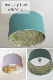 Cool Ikea Lamp Hack Pimp Your Rismon Lampshade With Maps