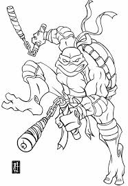 Michelangelo Teenage Mutant Ninja Turtles Coloring Pages