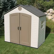 Lifetime 8 ft W x 5 ft D Plastic Storage Shed & Reviews