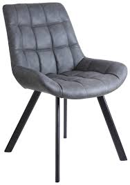 weißer stuhl in lederoptik