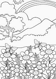 Happy Nature Coloring Pages Perfect Page Ideas