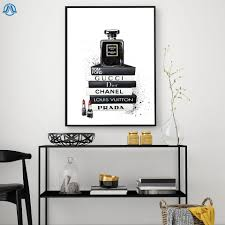 mode frauen parfüm flasche kunst leinwand malerei vogue bücher poster und drucken moderne wand bild für wohnzimmer wohnkultur