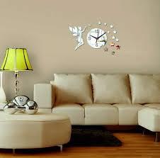 wandtattoo uhr wanduhr zum wohnzimmer als dekoration fee 40x40 cm