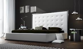 Bedroom Furniture Stores With White Curtain And Black Bed Cover Modern Lamp