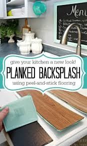 remodelaholic diy plank backsplash using peel and stick vinyl