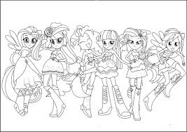 My Little Pony People Coloring Pages