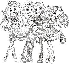 Ever After High Coloring Sheets