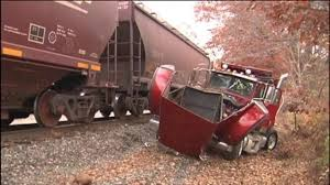 100 Bangor Truck Equipment Train Collides With Dump Truck In East WFMZ