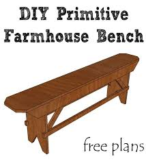 Build A Beautiful DIY Primitive Farmhouse Bench For Your Table Or Extra Seating