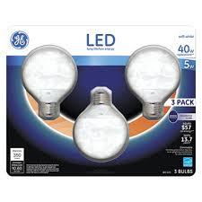 ge 5 watt led g25 decorative globe light bulbs soft white 3
