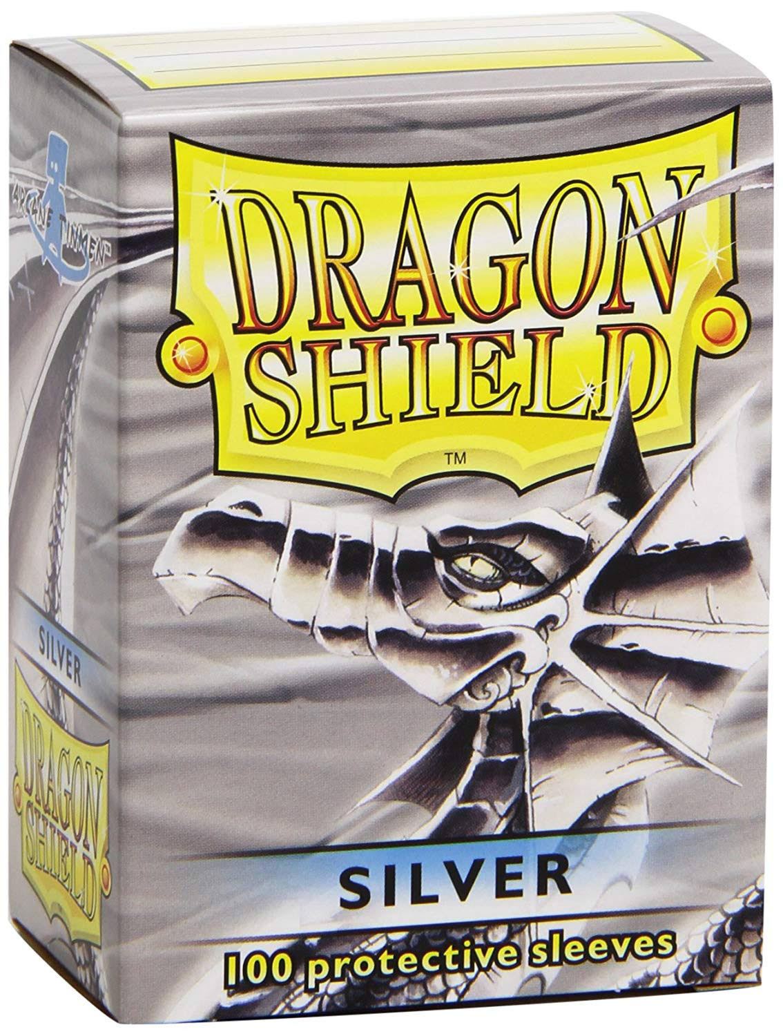 Dragon Shields Sleeves - Silver, 100 Protective Sleeves