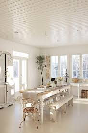 Rustic Chic Dining Room Ideas by Benjamin Moore U2013 Color Of The Year 2016 U2013 Simply White Benjamin