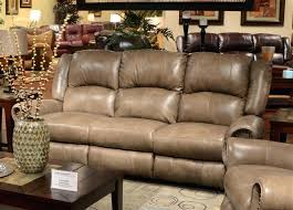 darrin leather reclining sofa with console living premium top
