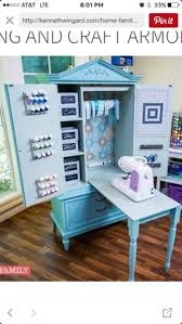 Sewing Cabinet Plans Build by Repurposed Armoire Sewing Cabinet Fold Table Top U0026 Legs Into