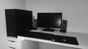 Linnmon Alex Desk Black by Black U0026 White Battlestations