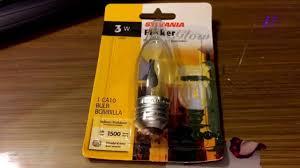 sylvania 3 watt flicker glow bulb ca10